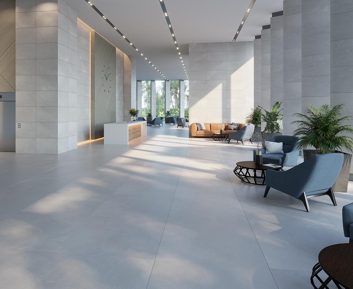 Hall diseñado con Adda